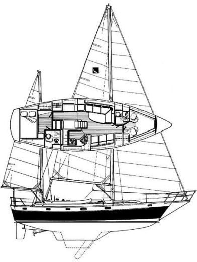 Segelboot Irwin 42 Ketch