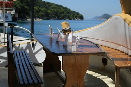 Charter Motorboat Custom Built Traditional Wooden Croatian Boat Dubrovnik