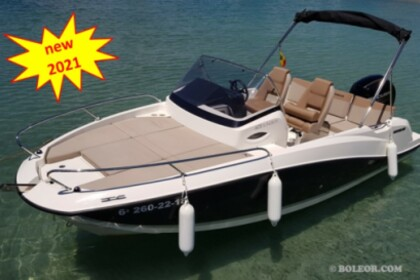 Rental Motorboat QUICKSILVER Q605 'Helios' 2020 (7p/wake/skis) Ca'n Pastilla
