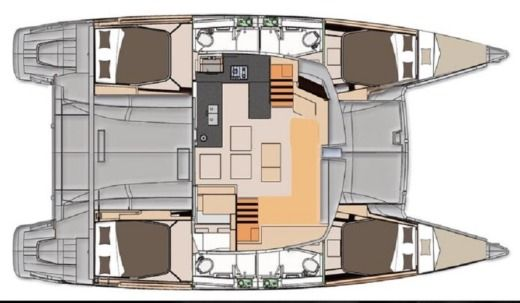 Catamarano Fountaine Pajot Helia 44 tra privati
