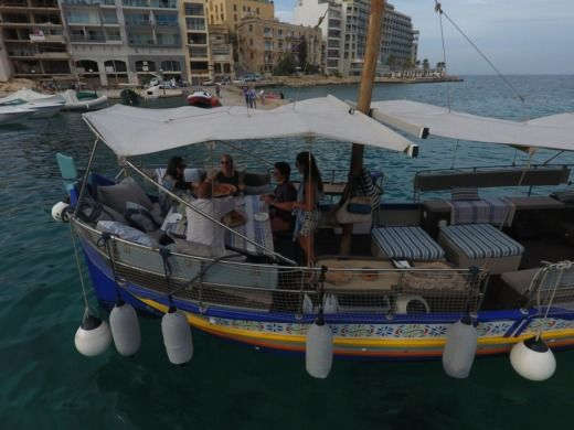 Traditional Maltese Boat Luxury Luzzu in Malta