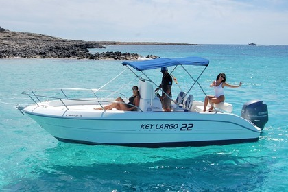Rental Motorboat Sessa Marine Key largo 22 open Ibiza