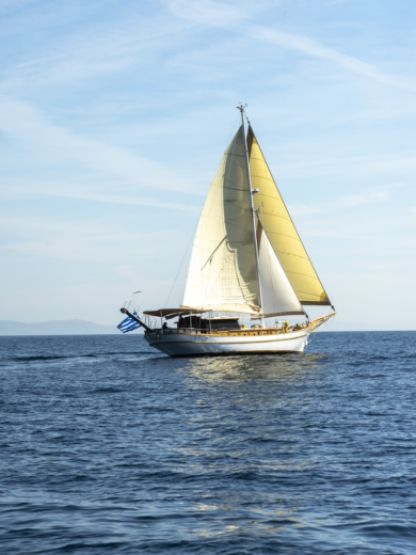 Charter Sailboat Traditional  Motorsailer Triton Odyssey Laurium