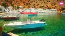 Rental motorboat in Chania