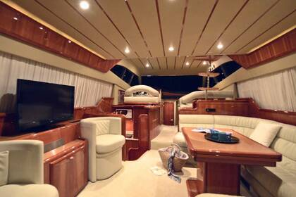 Rental Motorboat Ferretti 53 flybridge Athens