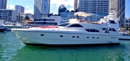 Rental Motorboat Ferretti Flybridge Miami
