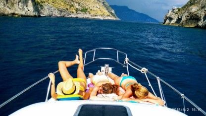 Charter Motorboat Atlantic Gobbi Amalfi Tour Top Gun Gobbi 25 Cabin Positano