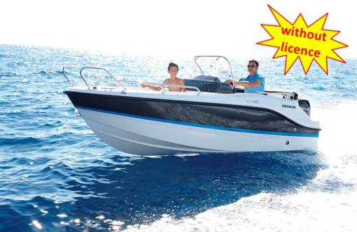 Motorboat Quicksilver Activ 455 Open for hire