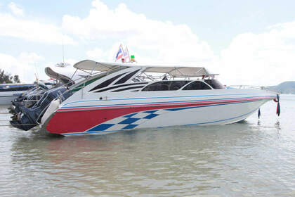 Rental Motorboat Custom Twin Engines 200HP Phuket