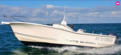 Rental Motorboat White Shark 205 Le Palais