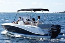 Motorboat Quicksilver 605 Sundesk for hire
