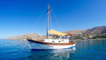 Charter Sailboat Traditional Greek Wooden  Trechandiri Rhodes