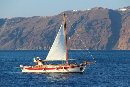 Charter Sailboat Traditional Greek Kaiki -Trechandiri Santorini