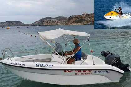 Hire Motorboat POSEIDON Blue water Heraklion