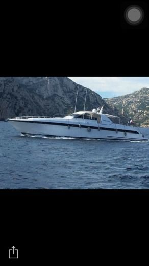 Motorboat Over Marine Mangusta 80 for hire