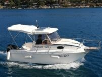 Motorboat Saver 540 Cabin Fisher for hire