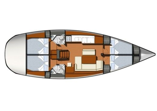 Sailboat Jeanneau Sun Odyssey 44i for hire