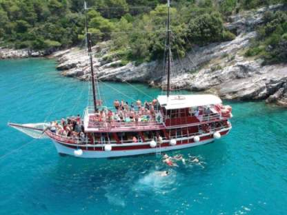 Charter Motorboat Traditional Croatian Wooden Ship Omiš