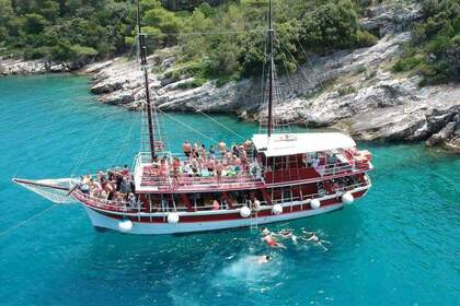 Rental Motorboat Custom Built Traditional Croatian Wooden Ship Omiš