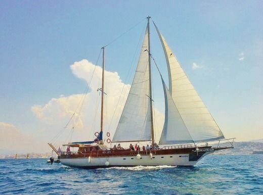 Chantier Coban Ketch 24 M Bois a Marseille da noleggiare