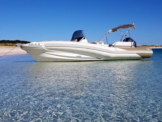 Zodiac Nzo 760 in Ibiza, Balearic Islands for hire