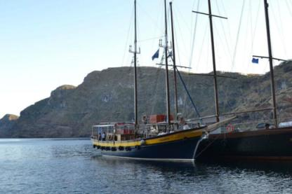 Rental Sailboat Faros Shipyard Traditional Schooner Santorini