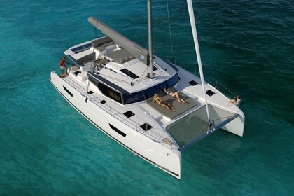 Location Catamaran FOUNTAINE PAJOT Saona 47 with watermaker Le Marin