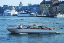 Venetian Water Limousine in Stockholm for rental