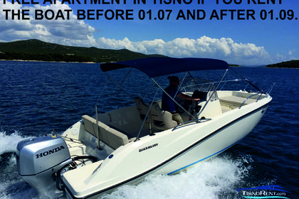 Rental Motorboat QUICKSILVER 675 open Tisno
