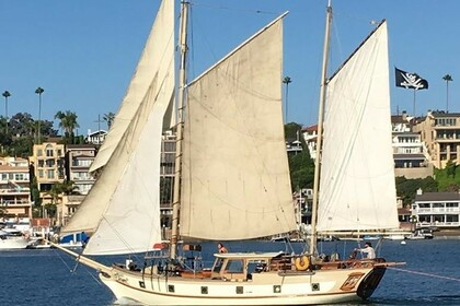 Rental Sailboat Hugh Angleman Mayflower Brigantine Ketch Newport Beach