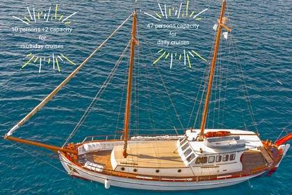 Rental Sailboat Traditional greek wooden boat Trexandiri Athens