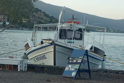 Charter Motorboat Traditional Boat Elounda