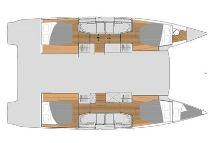 Hire Catamaran Fountaine Pajot ELBA 45 Mykonos