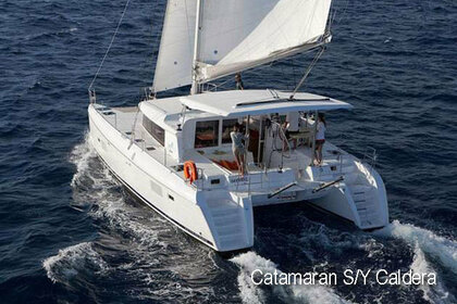 Charter Catamaran Caldera Lagoon 420 PRIVATE DAILY CATAMARAN SAILING CRUISES Santorini