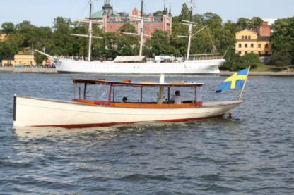 Rental Motorboat Custom Wooden Boat Stockholm