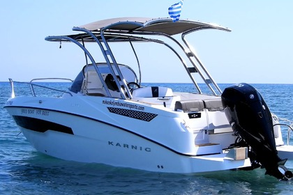 Rental Motorboat Karnic mercury 200hp Rhodes