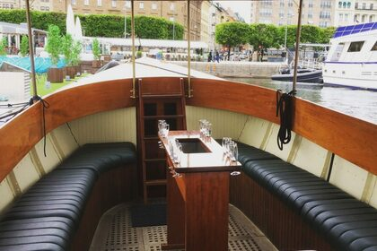 Hire Motorboat Custom Wooden Boat Stockholm