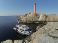 Rental catamaran in Hamburgsund