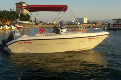 Rental Motorboat POSEIDON Blue water 480 CC Ouranoupoli