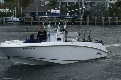 Miete Motorboot BOSTON WHALER 270 OUTRAGE Miami Beach