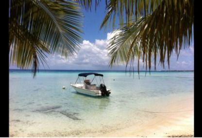 Rental Motorboat Polyform 17.5 'Uturoa