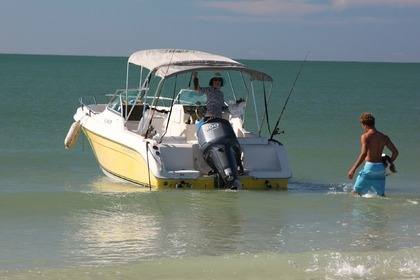 Charter Motorboat Cobia 215 Dual Console Key Biscayne