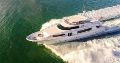 Charter Motorboat Westport 112 Flybridge Miami