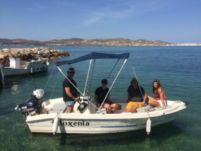 Charter motorboat in Paros