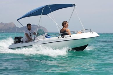 Charter Motorboat Rigiflex Cap 400 Consola Can Picafort