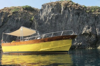Charter Motorboat Mileo Gozzo Aeolian Islands