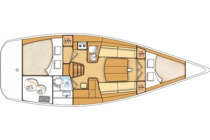 Hire Sailboat BENETEAU FIRST 35 Kaštel Gomilica