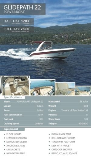Powercraft Glidepath 22 in Opatija for hire