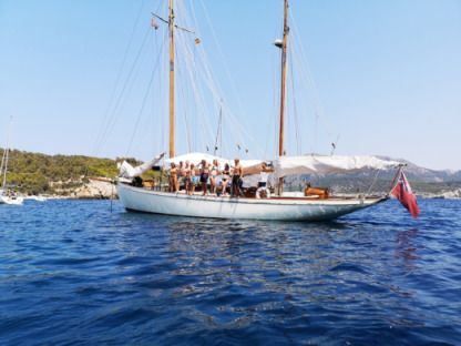 Charter Sailboat White Bros. Fred Shepherd Gaff Ketch Port d'Andratx