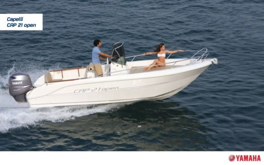 Motorboat Capelli Cap 21 Open Class for hire
